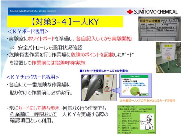 一人KY(出典:2018年日化協安全表彰住友化学大江工場)